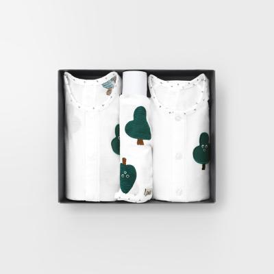 [메르베]나무친구들 7부백일선물세트(내의+슈트+모자)