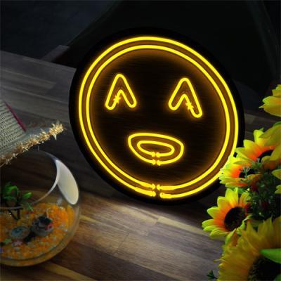 ne679-LED액자25R_네온효과귀여운스마일얼굴