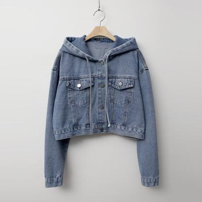 Hooded Crop Denim Jacket