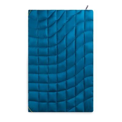 Duck Down Blanket Blue