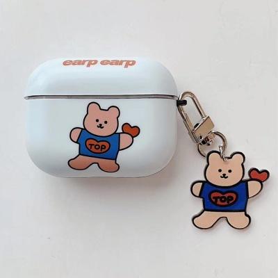 에어팟프로케이스 곰돌이 키링 3세대_471 화이트 PRO