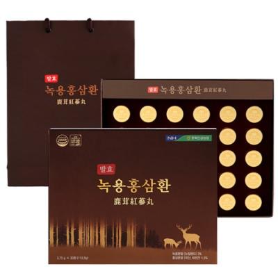 [충북인삼농협] 6년근 발효 녹용홍삼환 3.75gx30환