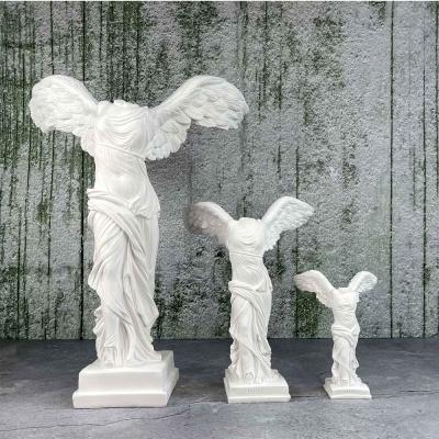승리의 여신 니케 조각상 석고상 중형25cm 화이트