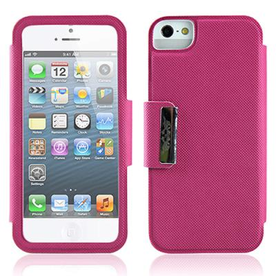 아이폰 5용 폴드 플립케이스 (핑크)