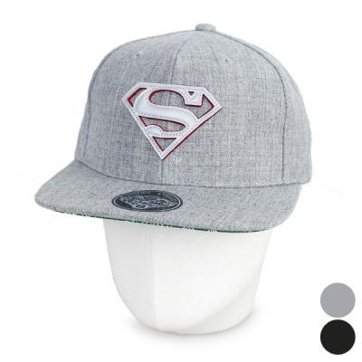 [디꾸보]슈퍼맨 로고 밑챙 레터링 스냅백 모자 ACE578