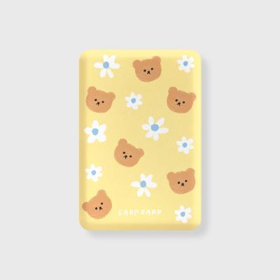 Dot flower bear-yellow(무선충전보조배터리)