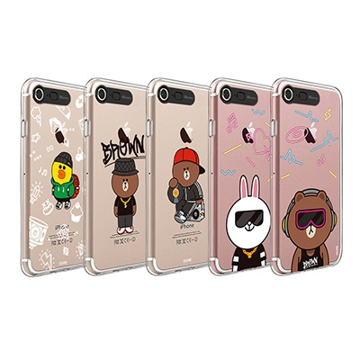 라인프렌즈 iPhone 7,8 BEAT BROWN 2 Lighting CASE