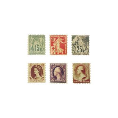 빈티지 클래식 우표 마그넷 세트