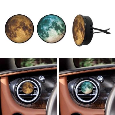 토디토 차량용 원형 방향제 달 프린팅 송풍구 클립형