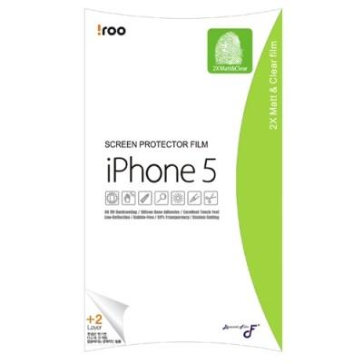 아이루iroo아이폰5필름 더블지문방지액정보호필름 한번부착에2겹