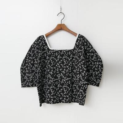 Leaf Puff Blouse
