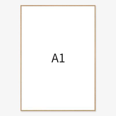 메탈 포토프레임 우드 A1
