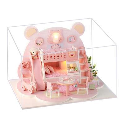 [adico]DIY 미니어처 하우스 - 핑크 베어 하우스