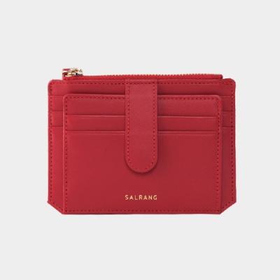 Dijon 301S Flap Card Wallet cherry red 디종 플랩 카드 월렛 체리레드