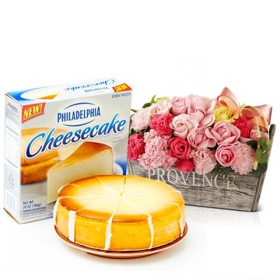 필라델피아 치즈케익 플레인(794g)+비누꽃 프라린파스텔