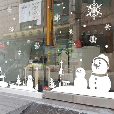 제제데코 크리스마스 눈꽃 스티커 장식 CMS4J209