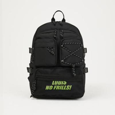 [로디스] 포켓백팩 블랙라임 학생백팩