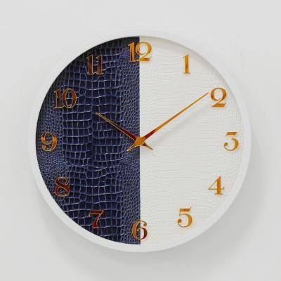 (khyn008)저소음 가죽디자인 시계 (B/W)