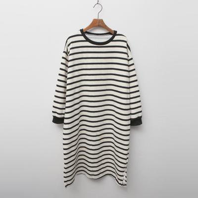 Gimo Stripe Dress  - 기모안감