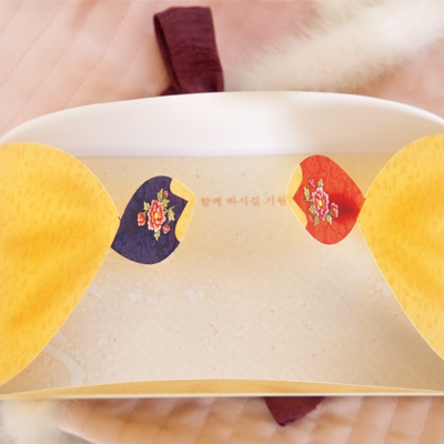 시아분홍 한복봉투 FB306-1