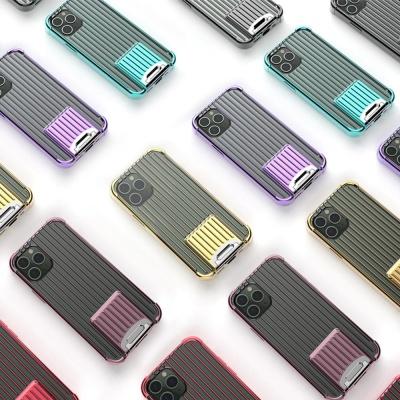 아이폰12 PRO MAX MINI 컬러 캐리어 실리콘 폰케이스