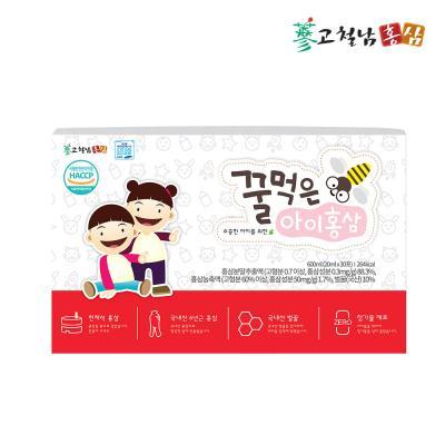 고철남홍삼 어린이 전체식홍삼 꿀먹은아이홍삼 20ml x 30포