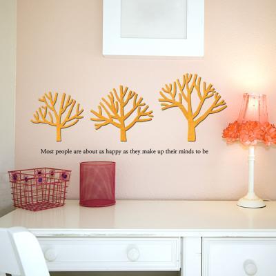 우드스티커- 가지나무 (컬러완제) W496 포인트 월데코
