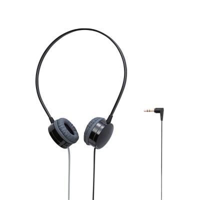 ELECOM 투톤 플랫 케이블 컬러 헤드폰 블랙