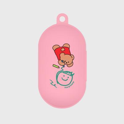 Doodle bear-pink(buds jelly case)