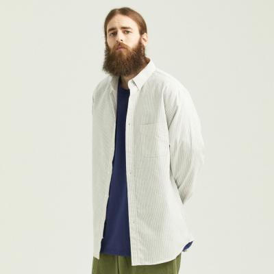 CB 오버핏 옥스포드 셔츠 (그레이)