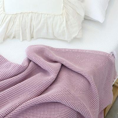 꿀잠 모달와플 피그먼트 이불 겸용 스프레드 -퍼플