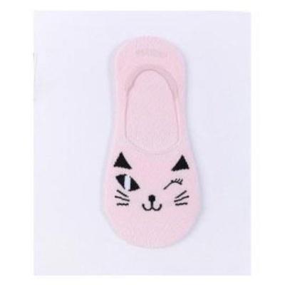 덧신윙크고양이 페이크삭스 핑크 양말 세련된선물