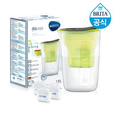 필터형 정수기 브리타 펀 1.5L 라임+필터3개월분(기본구성 필터포함)