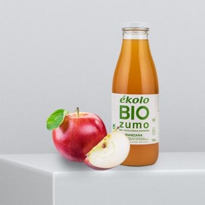 프리미엄 유기농 100% 사과 착즙 에콜로 주스 750ml