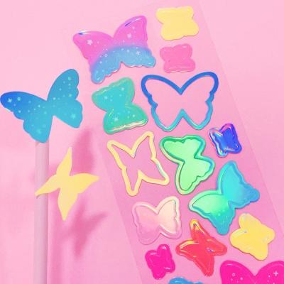 빛나는 나비 안의 나비 칼선 스티커