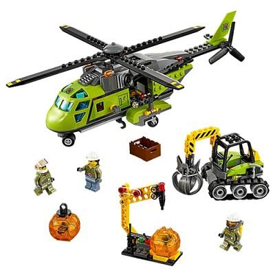 [레고 시티] 60123 화산지대 보급 헬리콥터
