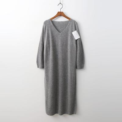 Laine Cashmere N Wool V-Neck Long Dress