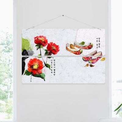 nk457-멀티아크릴액자_겨울의아름다운동백꽃(2단대형)