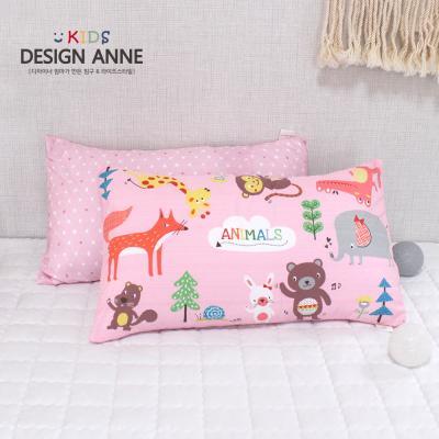 [디자인엔] 알러지케어 애니멀즈 아동솜베개-핑크