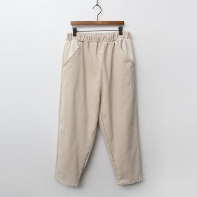 Corduroy Banding Baggy Pants