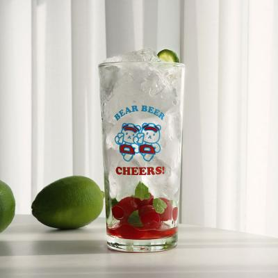 LAZYTHING clear bear cheers long glass 435ml