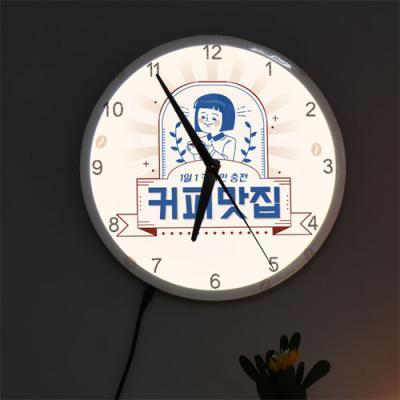 ng569-LED시계액자25R_커피맛집