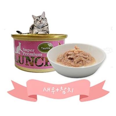 고양이 습식 간식 사료 80g 새우 참치 비타민 타우린
