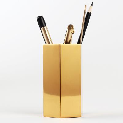 골드 헥사곤 필통 다용도 연필꽂이 펜꽂이 연필통
