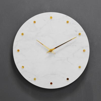 (khyn001)저소음 대리석디자인 시계 도트(W)