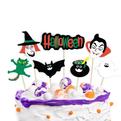할로윈 마녀와 백작 데코픽 7개 (1set)