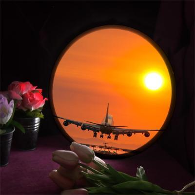 nh538-LED액자25R_노을지는하늘아래비행