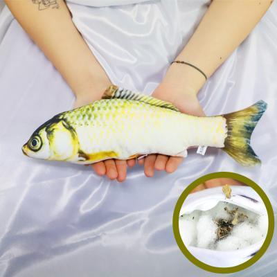 물고기 고양이 캣닢 장난감 용품 30cm (황녹붕어)