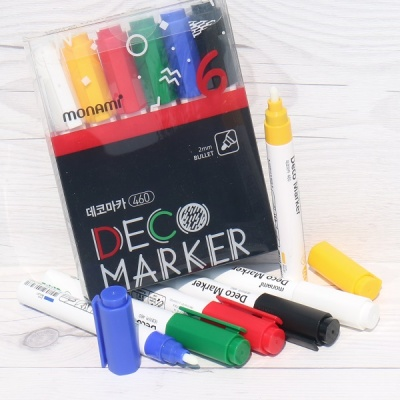 인테리어,데코레이션,DIY-모나미 데코마카 굵은닙 6색