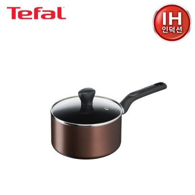 테팔 인덕션 초콜릿 티타늄 프로 냄비 편수 18cm